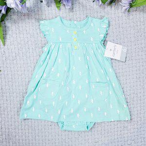 Carter's baby girl green seahorse Summer dress set